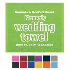 wedding towels favors