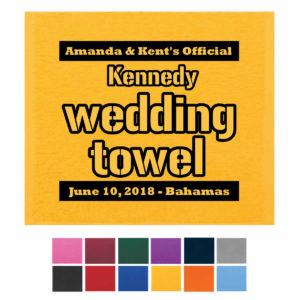 wedding rally towel