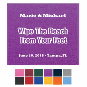 beach towel wedding favors