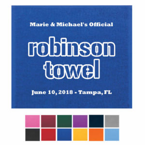 rally towels wedding favors