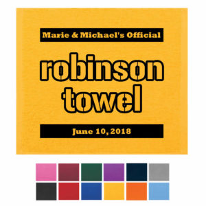 terrible towel wedding favors