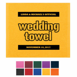 Wedding terrible towel, the wedding towel, wedding rally towels