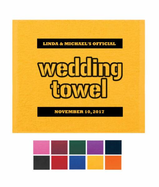 Wedding terrible towel, the wedding towel, wedding rally towels