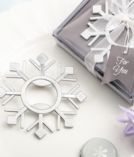 snowflake bottle opener
