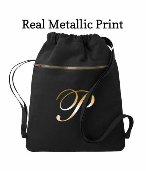 bridesmaid drawstring tote black