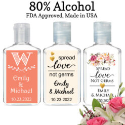 personalized hand sanitizers wedding favors
