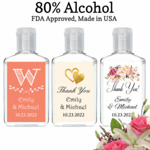 hand sanitizers wedding favors