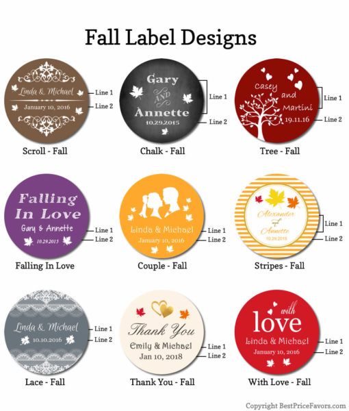 label design chart fall