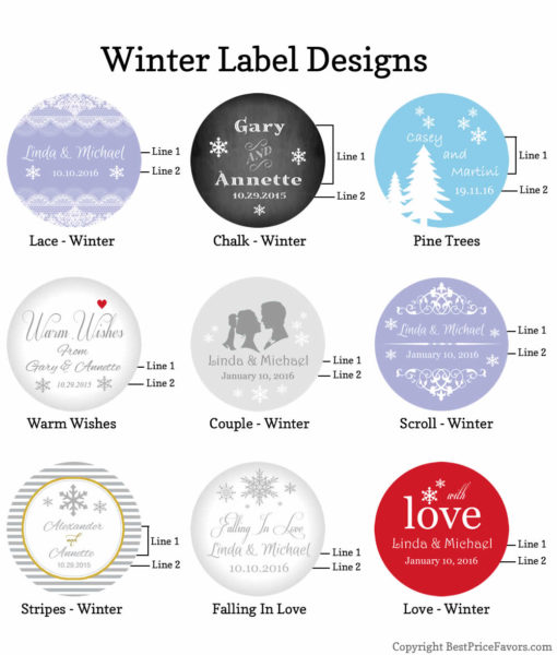 label design chart winter