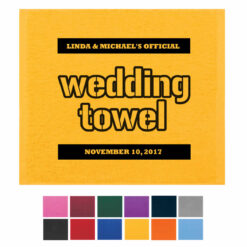 wedding rally towels