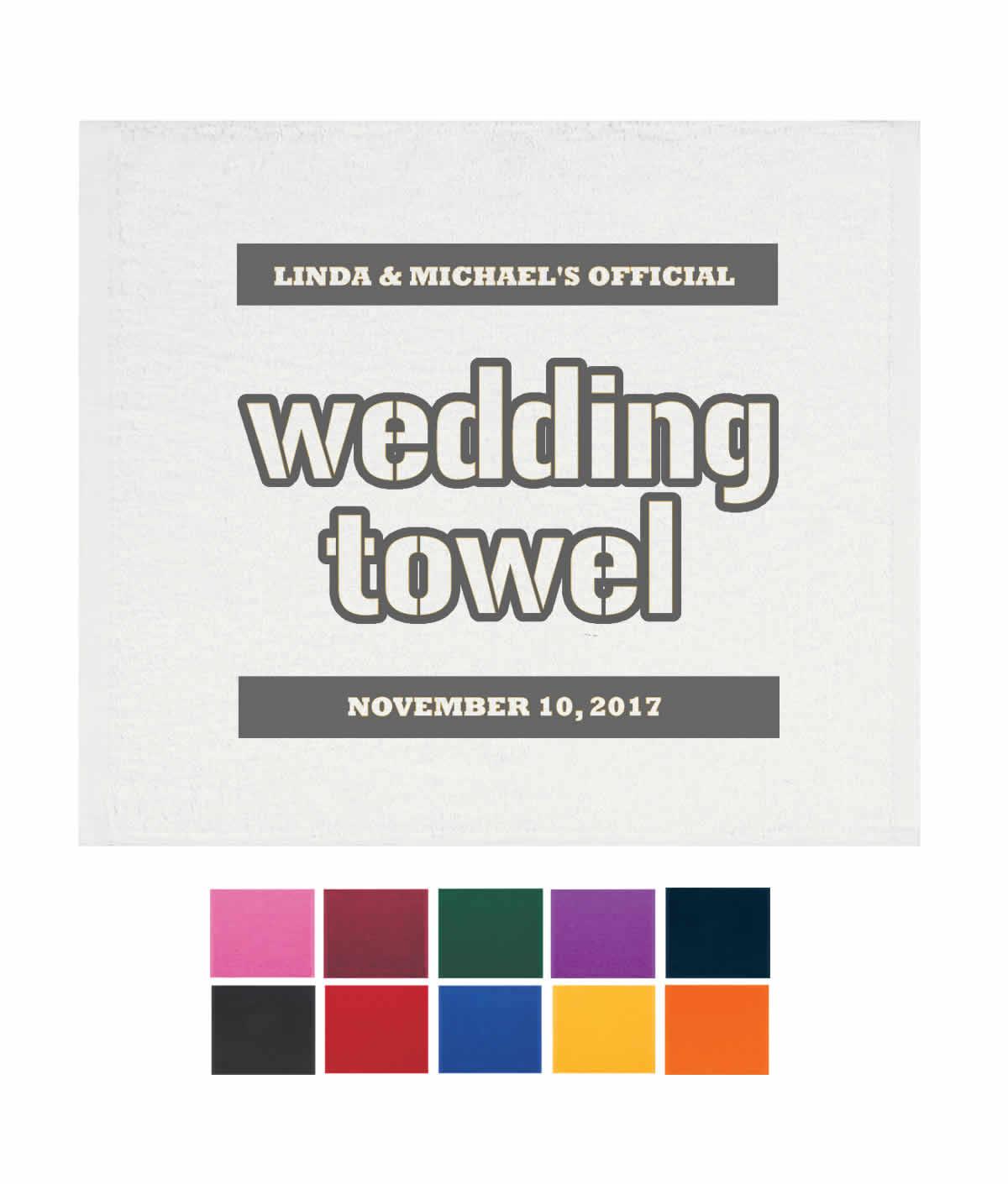 Wedding Rally Towels, Wedding Terrible Towel, The Wedding Towel ...