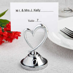heart place card holders