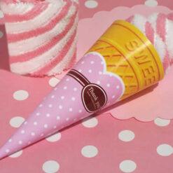 ice cream towel favors