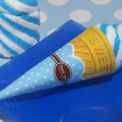 Blueberry Swirl Ice Cream Cone Towel Favor
