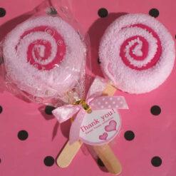 lollipop towel favors