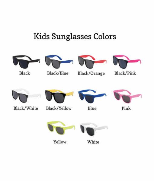 kids sunglasses color chart
