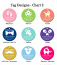 tag design chart 2 baby shower