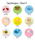 tag design chart 5 baby shower
