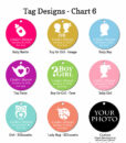 tag design chart 6 baby shower