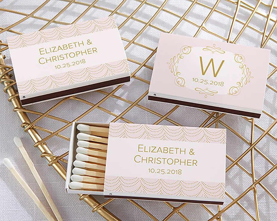 Modern Wedding Gifts: Modern Wedding Favors Personalized Matchboxes, Matchbox