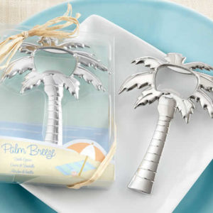 palm tree bottle opener favors