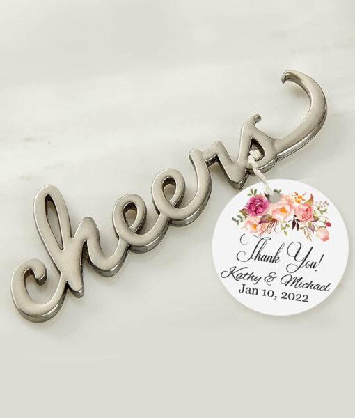cheers silver bottle opener