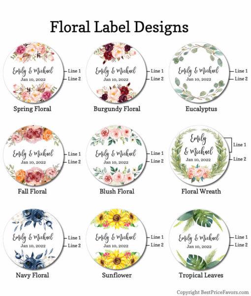 floral label designs