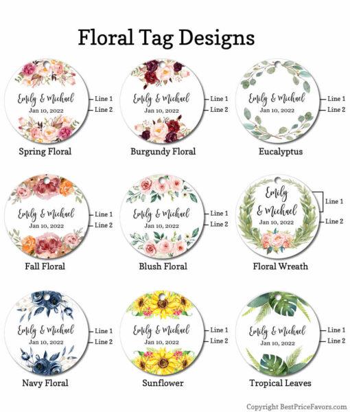 floral tag designs