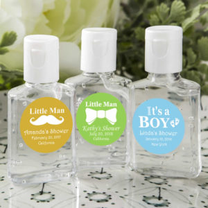 hand sanitizer baby shower favors