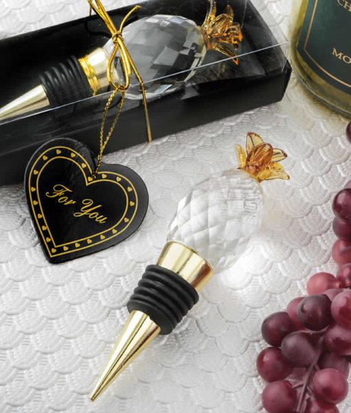Gold Pineapple Bottle Stopper