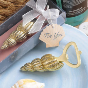 sea shell bottle opener wedding favor