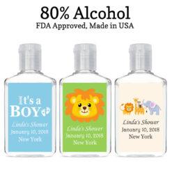 baby boy hand sanitizer favors