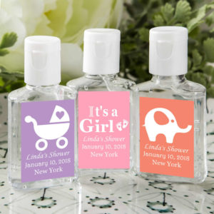 Girl baby shower party favors