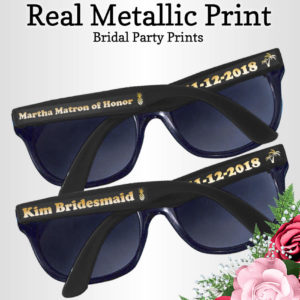 custom bridal party sunglasses
