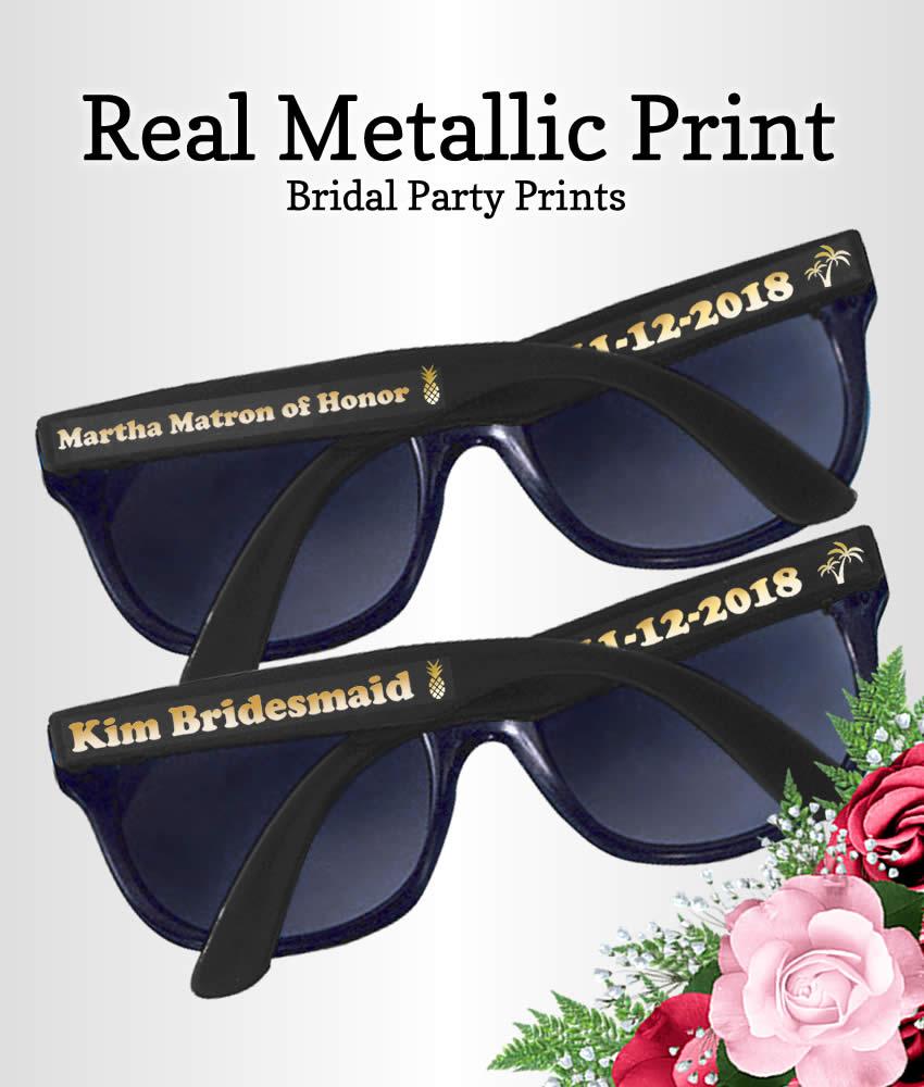 Adult Size Groomsman Personalized Sunglasses