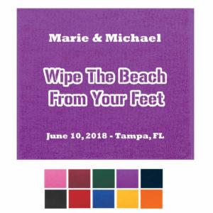 beach towel wedding favors