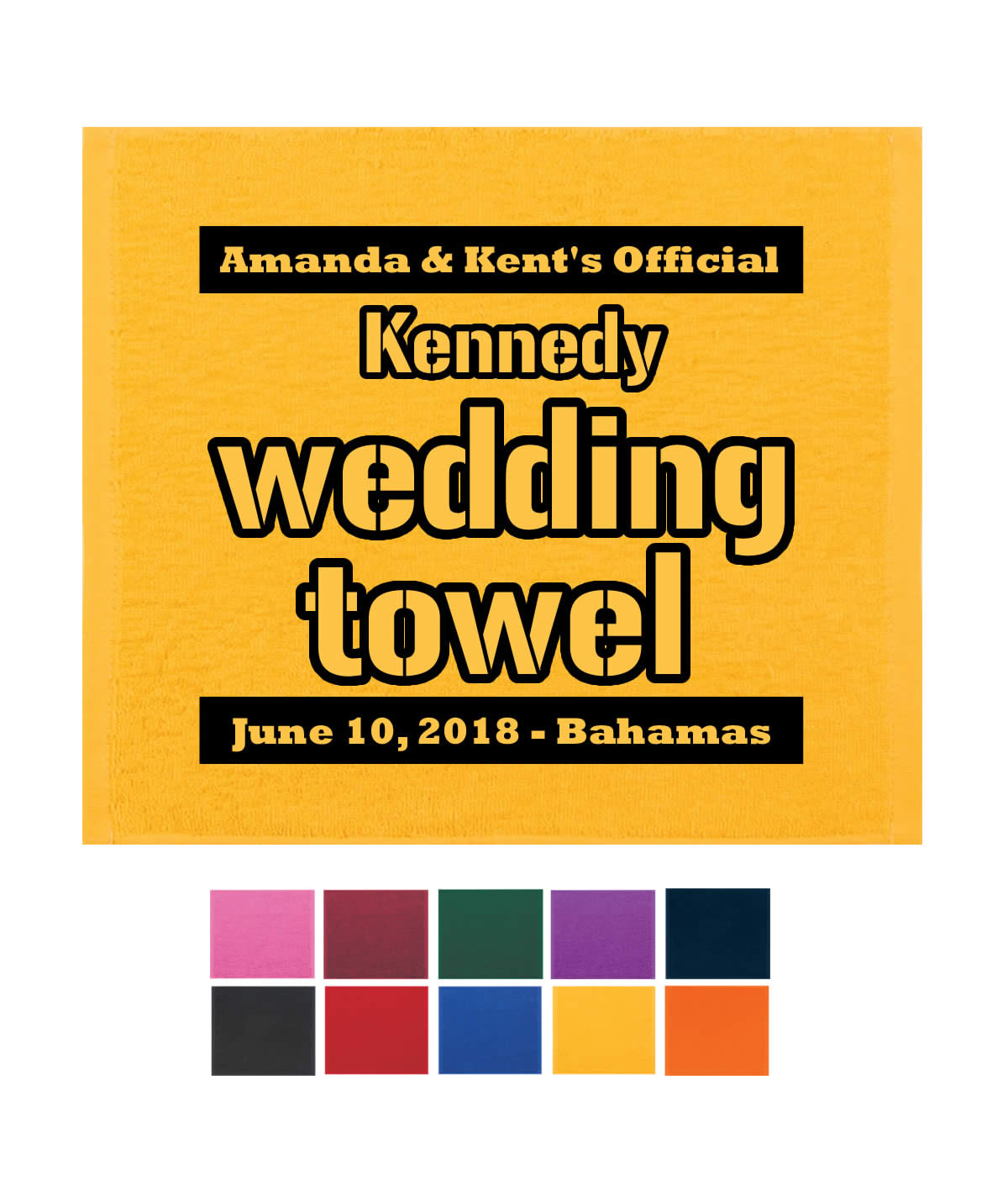 Wedding Rally Towels 12 Fun Colors Free Rush With Free