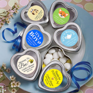 baby boy heart mint tins