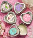 baby girl heart candle
