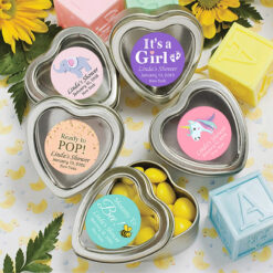baby girl heart mint tin