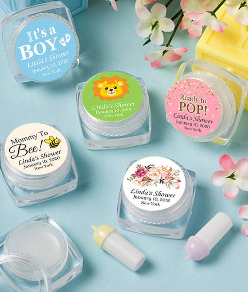 baby shower lip balms