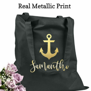 bridesmaid tote bags anchor