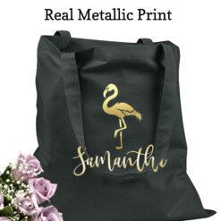 bridesmaid tote bags flamingo