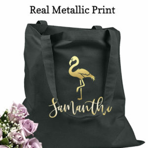 bridesmaid tote bags flamingo