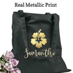 bridesmaid tote bags flower