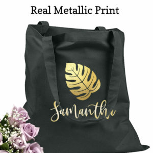bridesmaid tote bags leaf