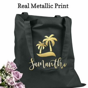 bridesmaid tote bags palm trees
