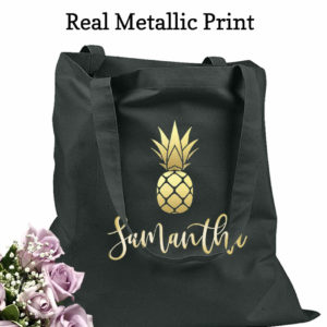 bridesmaid tote bags pineapple