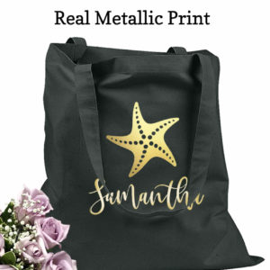 bridesmaid tote bags starfish