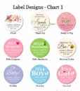 label design chart 1 baby shower